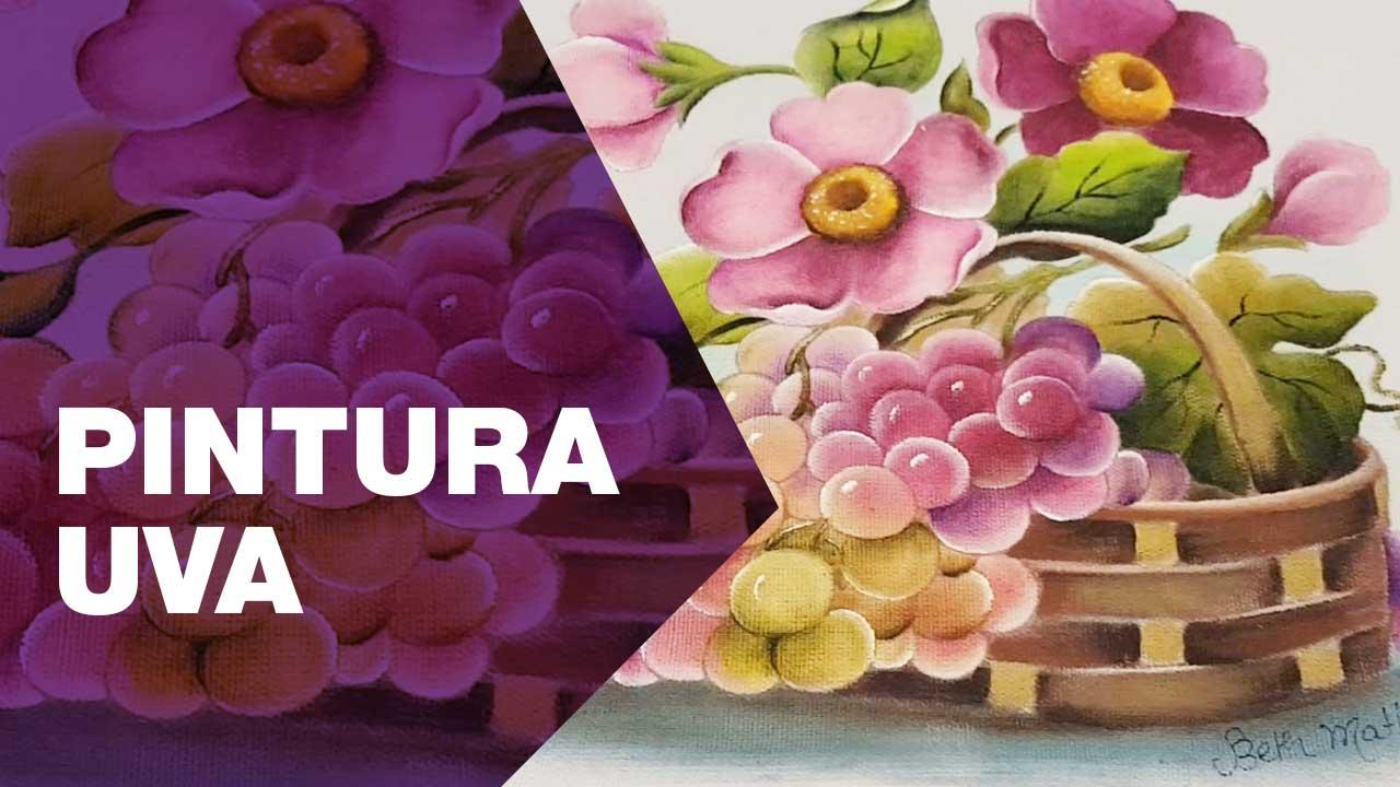 Pintura, uva, sacaria, artesanato