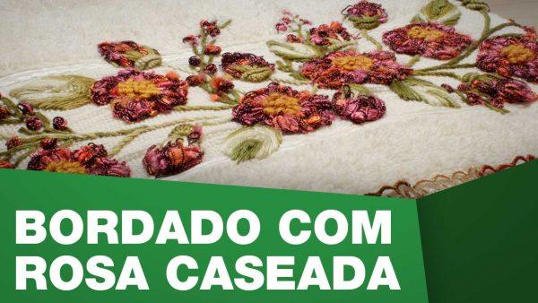 Bordado Rosa Caseada A Sacaria