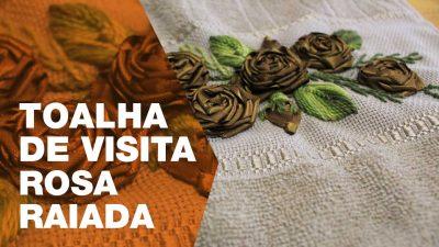 Bordado Rosa Raiada
