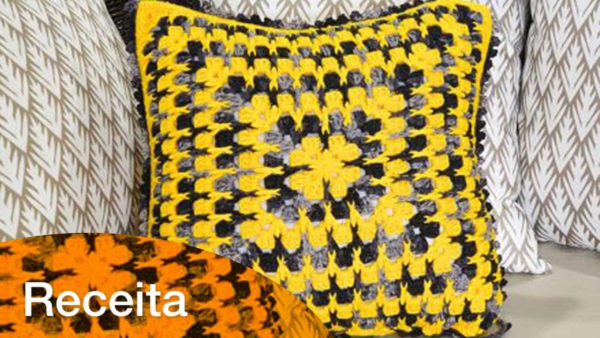 Receita Almofada Croche