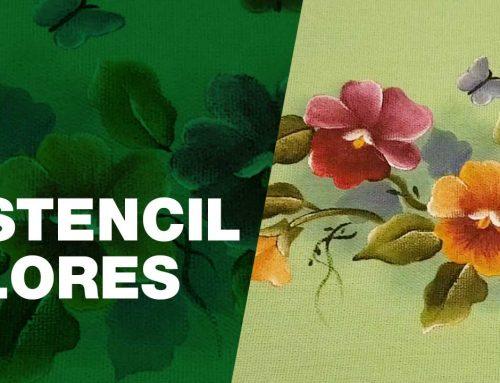 Pintura com Estencil Lindas Flores