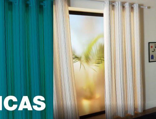 Níveis de entrada de luz das cortinas